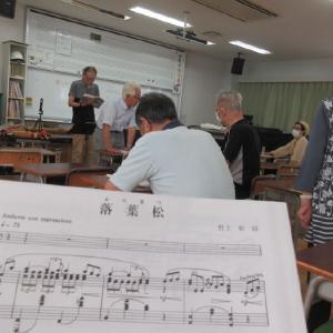 2か月ぶりに合唱に参加しました。