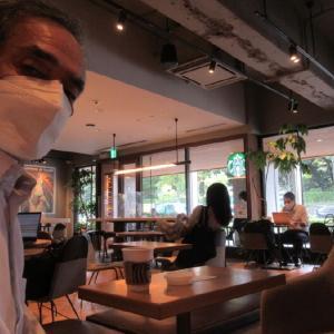 青山でモーニングコーヒー。