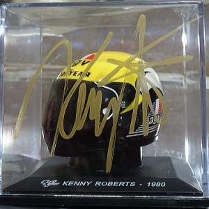 ケニー・ロバーツ氏&ウェイン・レイニー氏 ミニ・ヘルメットにサイン サウンド・オブ・エンジン