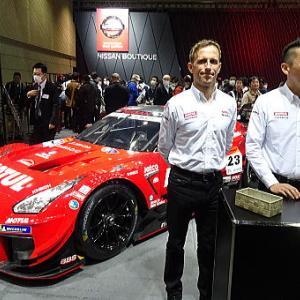 NISMO・GTドライバー・トークショーが行われた日産ブース 大阪オートメッセ