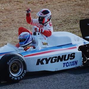 延期になったので 初めて観戦に行った1991年 鈴鹿2&4レース 右京選手初優勝