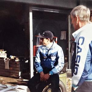 ラルト・ホンダのRモレノ選手来日 '84年全日本F2JAF-GP練習走行 HRCライダーにも会う