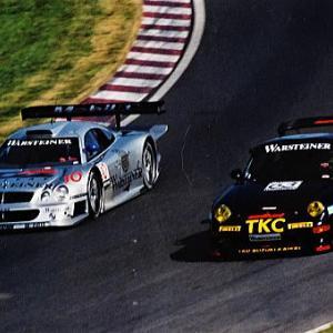 ナニーニ組メルセデスCLK GTR優勝 1997年鈴鹿1000㌔ ポルシェ&ロータス