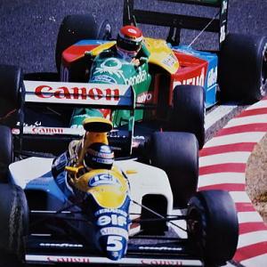 '89年F1日本GP 表彰台を獲得ウイリアムズ フェラーリ、レイトン・マーチ、ブラバム