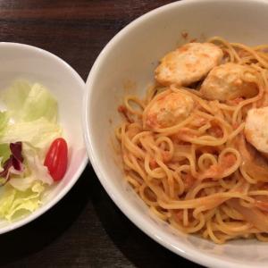 きたさん食堂(ミートボールのトマトクリームスパゲティ)