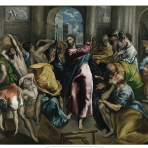 神殿から商人を追い払うキリスト エルグレコ