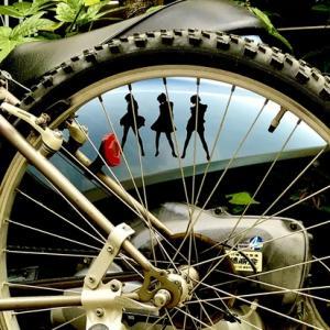見える所に自転車