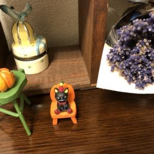 小さな置き物とシベリアワシミミズク