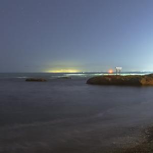 茨城県大洗海岸の星空