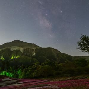 羊山公園の芝桜と星空