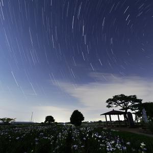 菖蒲城址あやめ園と星空【写真・動画】