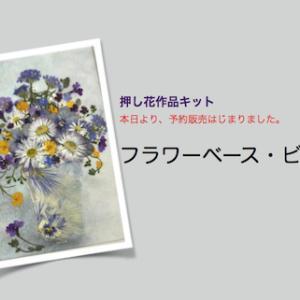 押し花作品キット 予約販売始まりました。