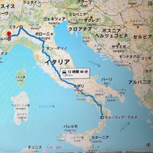 2019 秋 イタリア 上海経由