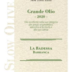 バランカがスローフード協会から「偉大なオリーブオイル」認定されました