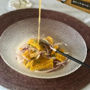 【レシピ】トウモロコシと赤たまねぎのサラダ