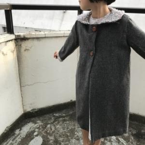 作品紹介:少女のスクールコート ウールとシャネルツイード