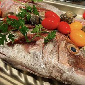 ビストロオーブンでアクアパッツアに挑戦!  トミーの魚やで真鯛ゲット♪  (豊田市)