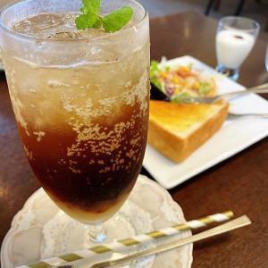 楽風★果肉ティーソーダ     美味しいモーニング   (豊田市駅前)