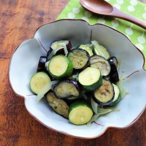 【レシピ開発】茄子とズッキーニの塩ラタトゥイユ【#ゼクシィ #作り置き】
