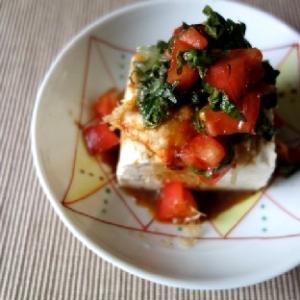 【掲載】パパっと3分☆トマトキムチ豆腐
