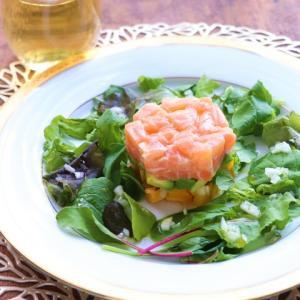 【掲載】彩り野菜とサーモンのミルフィーユサラダ