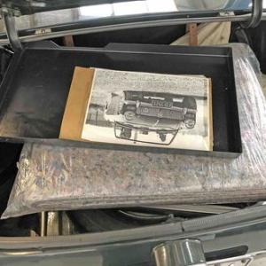 MG ミゼット,トランク内の清掃・整頓
