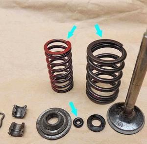 MG ミゼット エンジン, 吸・排気バルブの組み付け