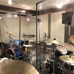 ドラムスタジオもソーシャルディスタンス