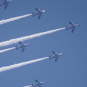 ブルーインパルス in the 東京の東の空2020■空とぶKawasaki T-4