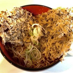 駅の立食いそば。でかい舞茸の天ぷらと昭和気分になんだか癒される新橋おとくねにバーツー