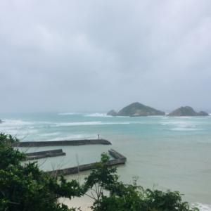 台風9号通過中