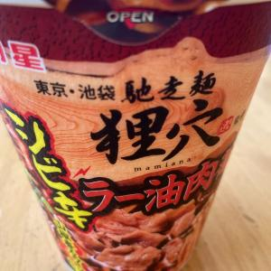 アップ忘れてたカップ麺シリーズ・御馳走麺 狸穴監修 ラー油肉蕎麦