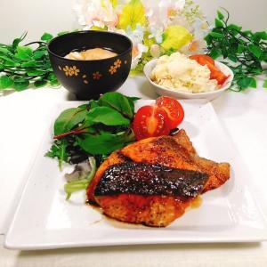 鮭のバタポン焼き