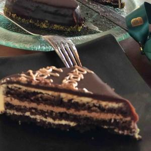 チョコレートケーキと、カクテルタイム