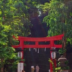 愛宕神社で緑の光?緑の蛇?