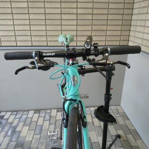 また息子の自転車で遊んでみた。