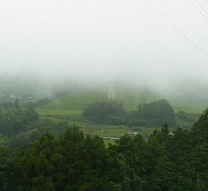 梅雨空続く東山