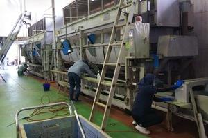 製造工場の掃除 2日目