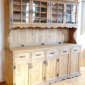 愛知県安城市:G様:カントリー家具『食器棚(カップボード)W185/Le cafe ※オーダー』