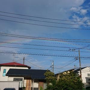 うっすーら、虹が!