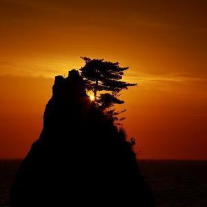 過去写真から 村上 笹川流れの夕日