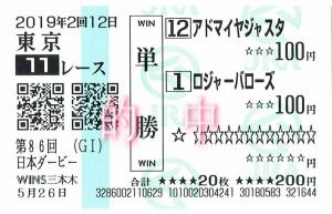 第86回(G1)日本ダービー