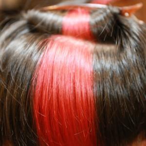 赤色ヘアカラー