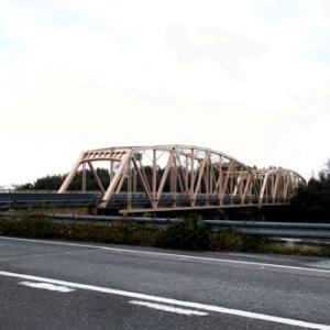 第15回琵琶湖一周(近江今津~安曇川駅)/垂直材のある曲弦ワーレントラス橋梁