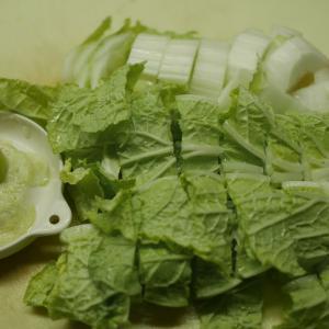 白菜の塩漬け、キムチ風