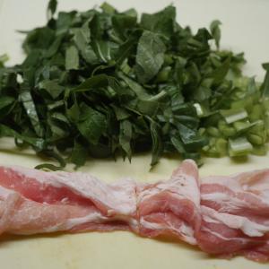 小松菜でチヂミ