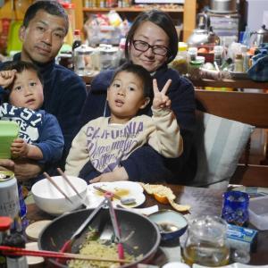 きのうは、近所の山本家族と忘年会