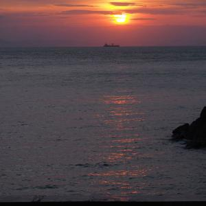 久しぶりに夕日を観たく散歩