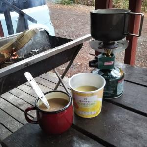 ソロキャンの朝食♪