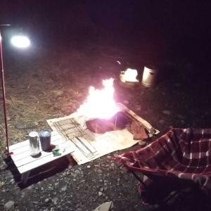 夜からキャンプ